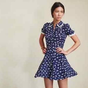 Reformation McKendrie Dress in Blue M